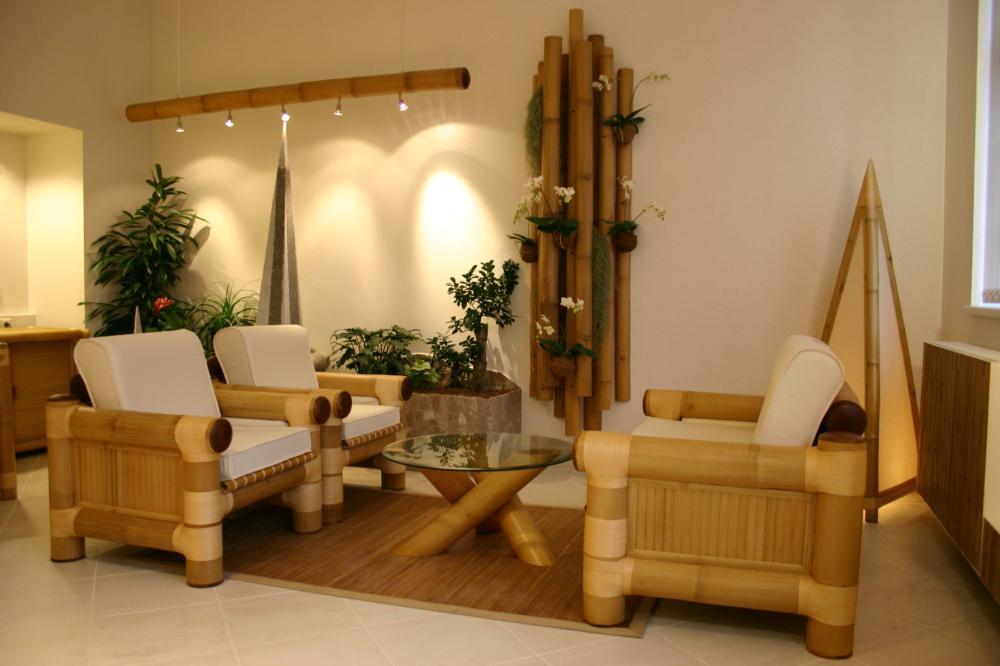 Bộ bàn ghế tre phòng khách