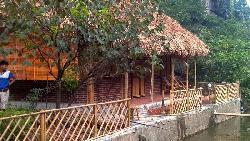 Nhà tre trúc lợp mái lá cọ 3